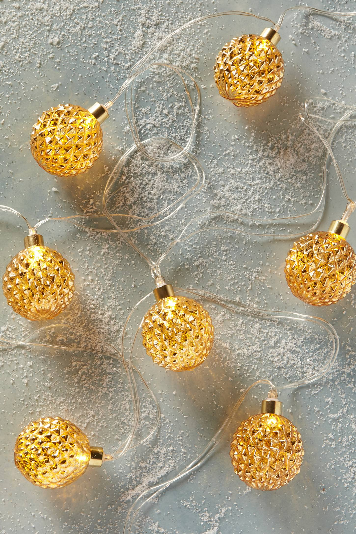 Faceted Mercury String Lights