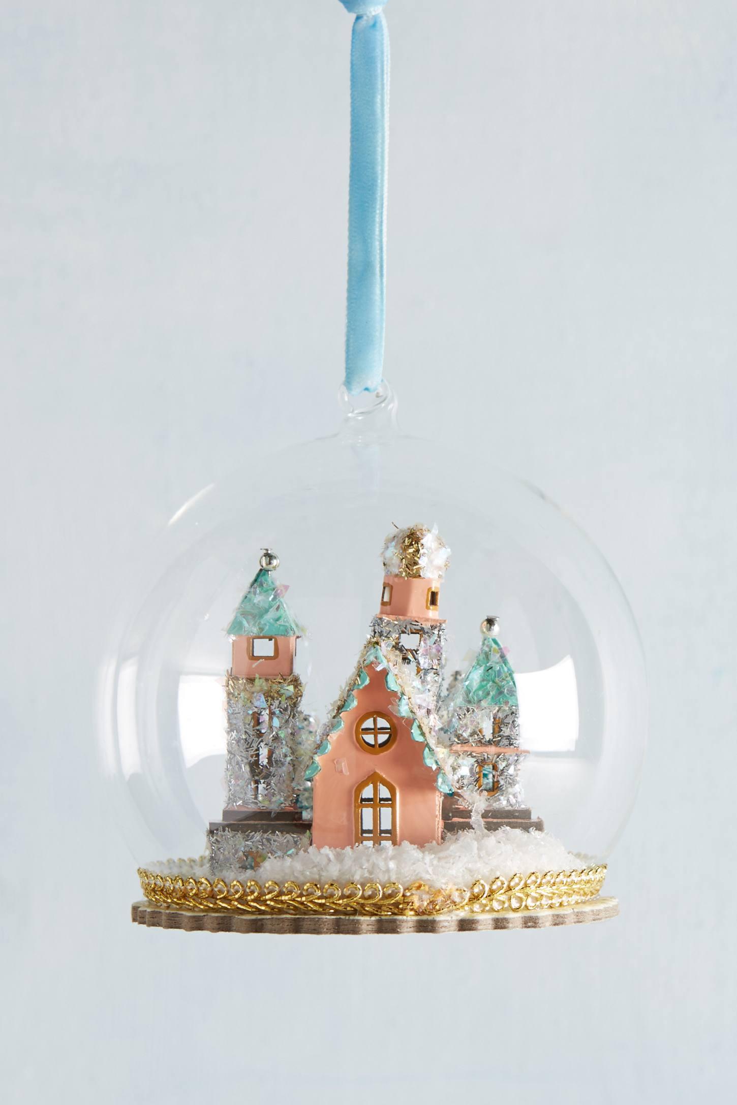 Enchanted Castle Globe Ornament