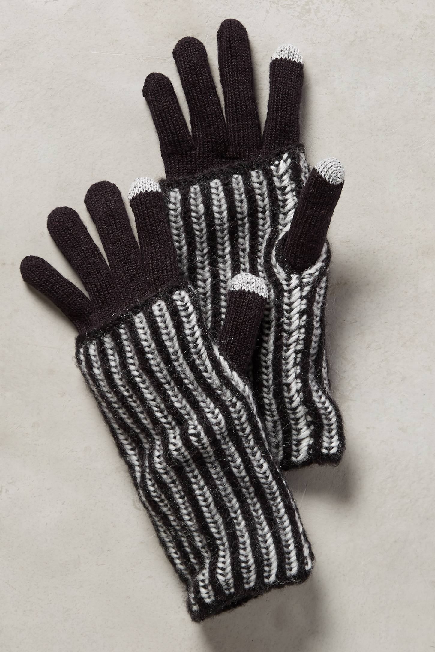 Stripe Cuff Gloves