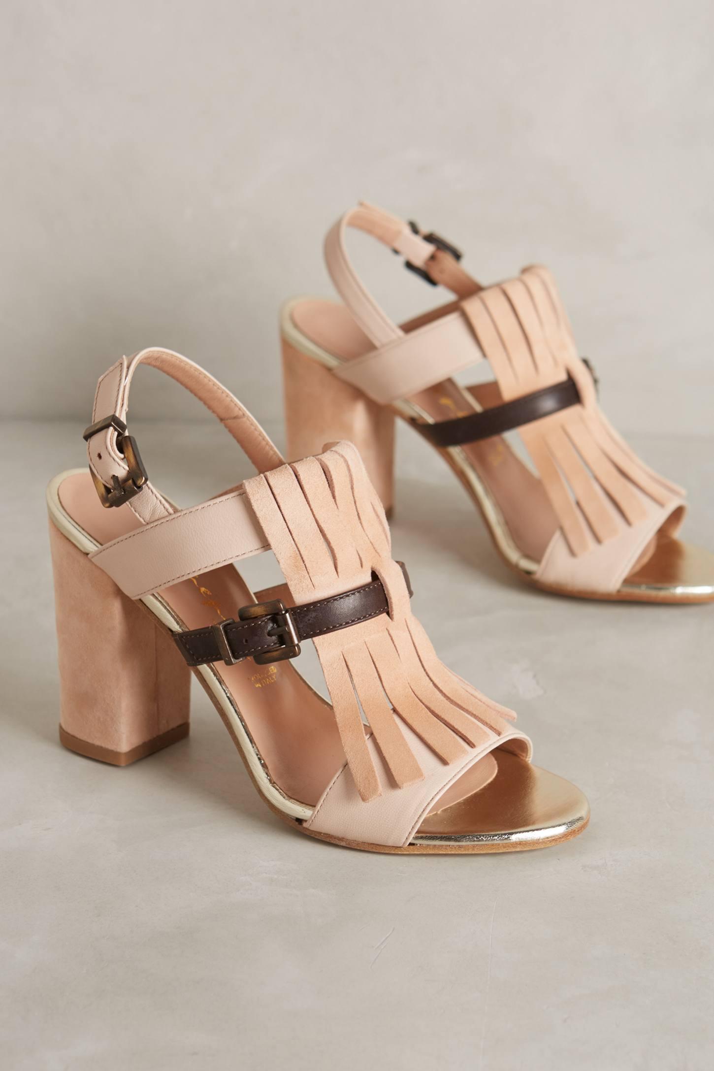 Shimmered Kiltie Heels