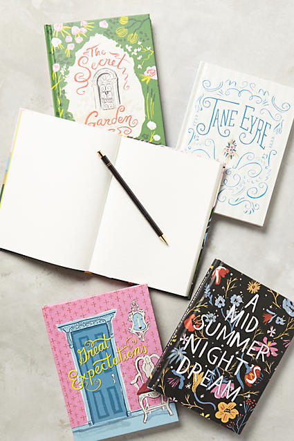 cute journals with literary covers