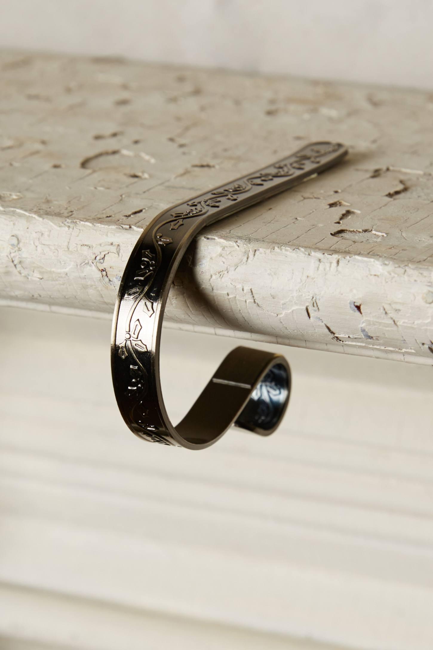 Embossed Metal Mantel Clips
