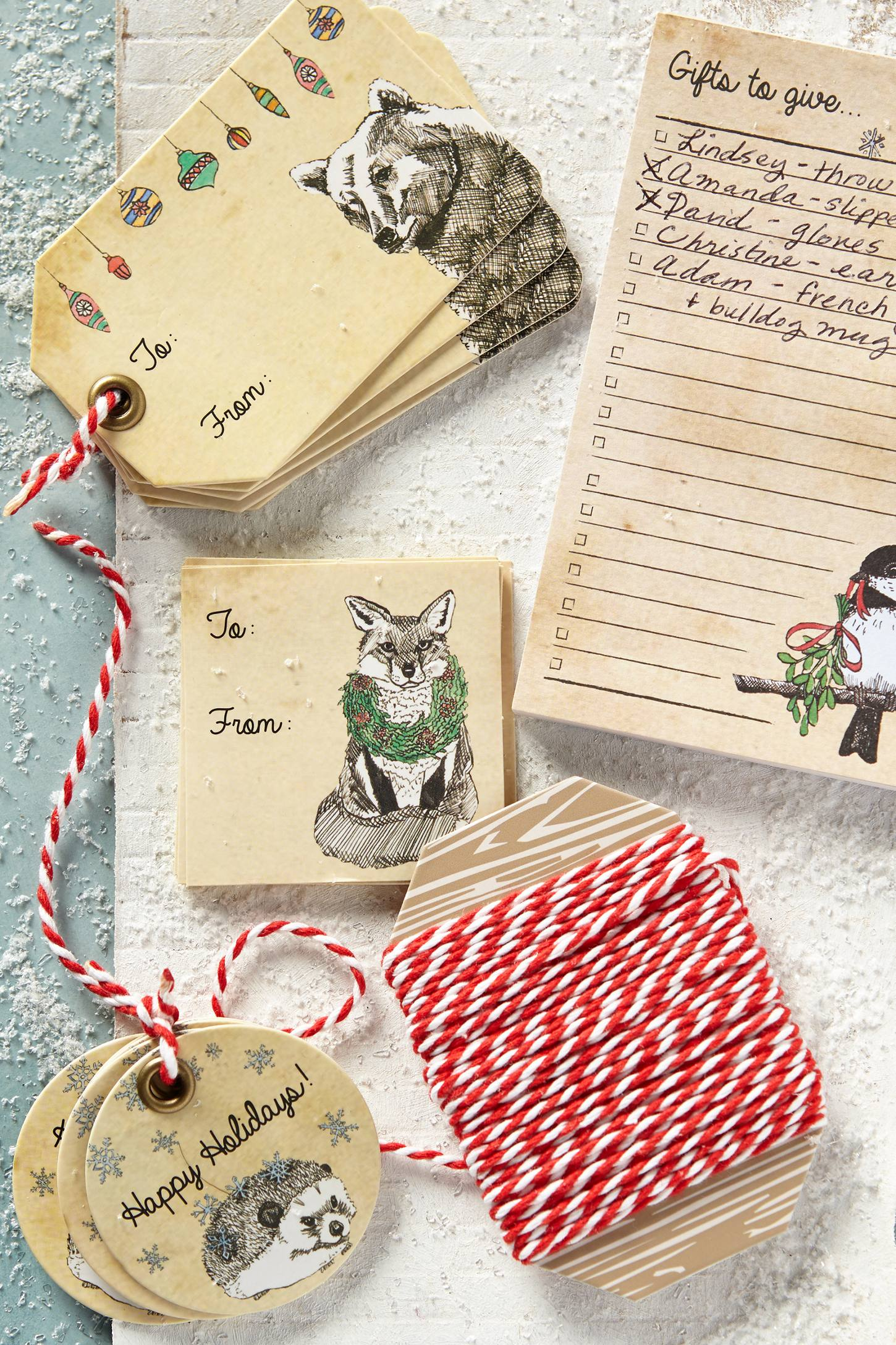 Fauna and Festoonery gift tags