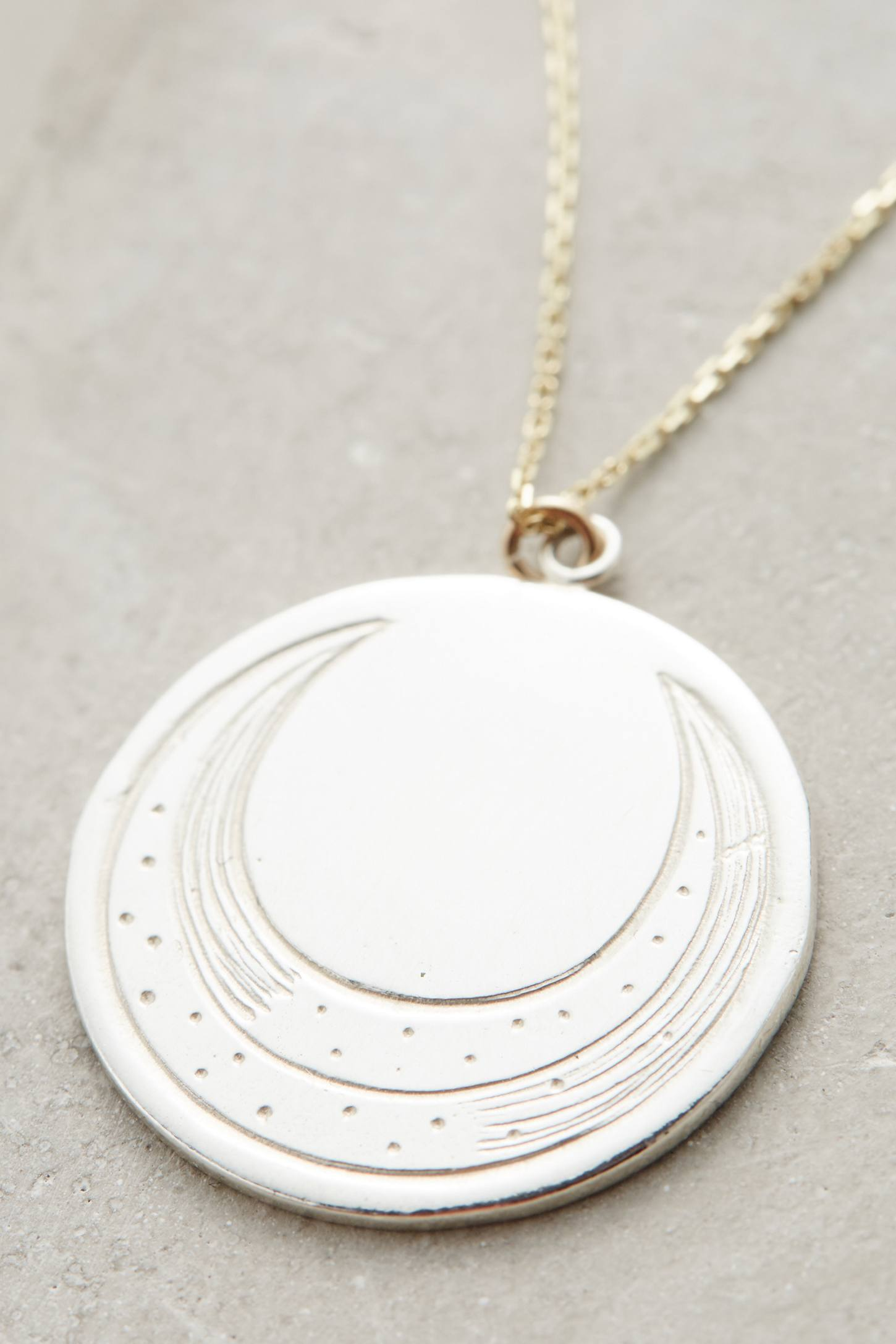 Engraved Luna Pendant Necklace