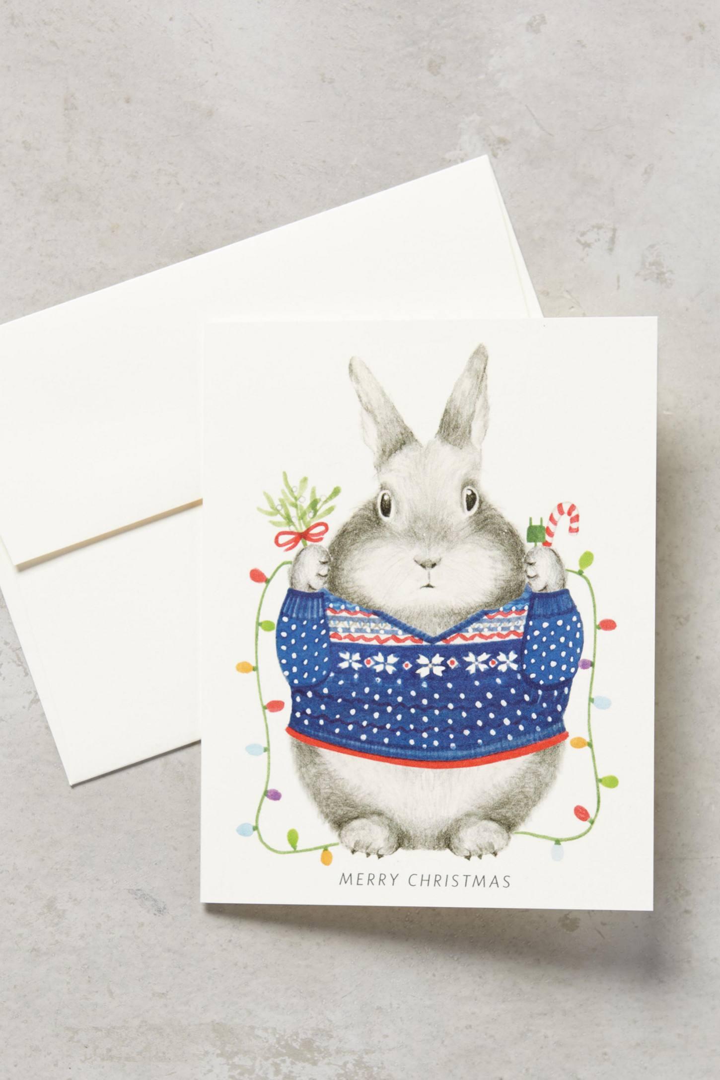Fair Isle Bunny Card