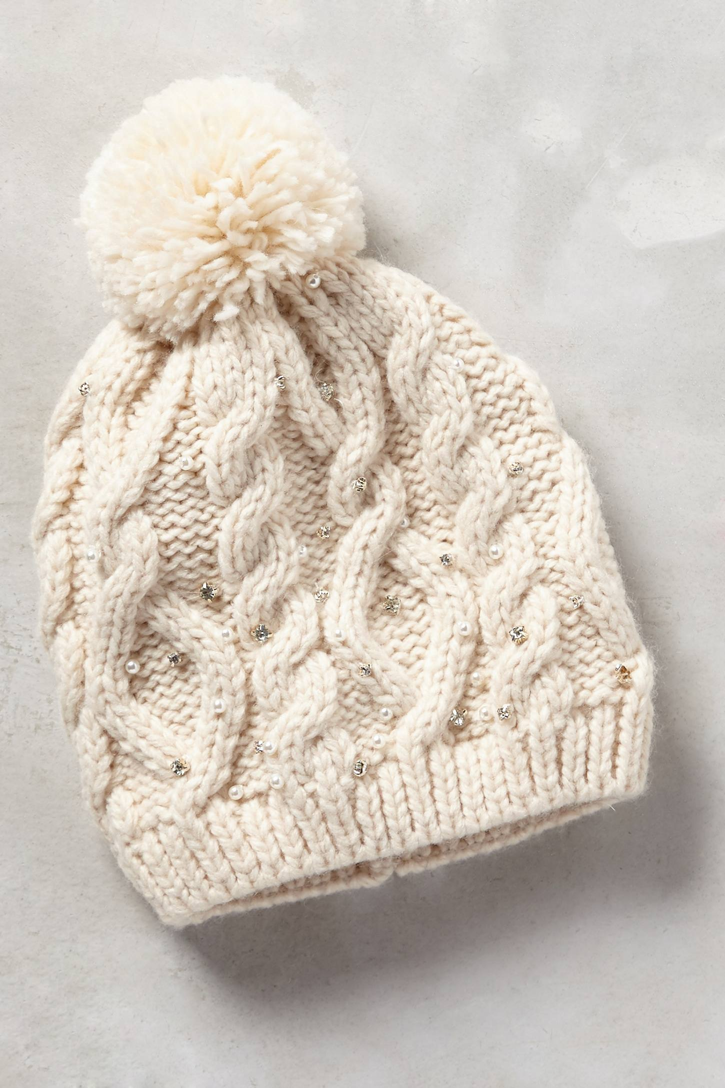 Pearled Cables Beanie