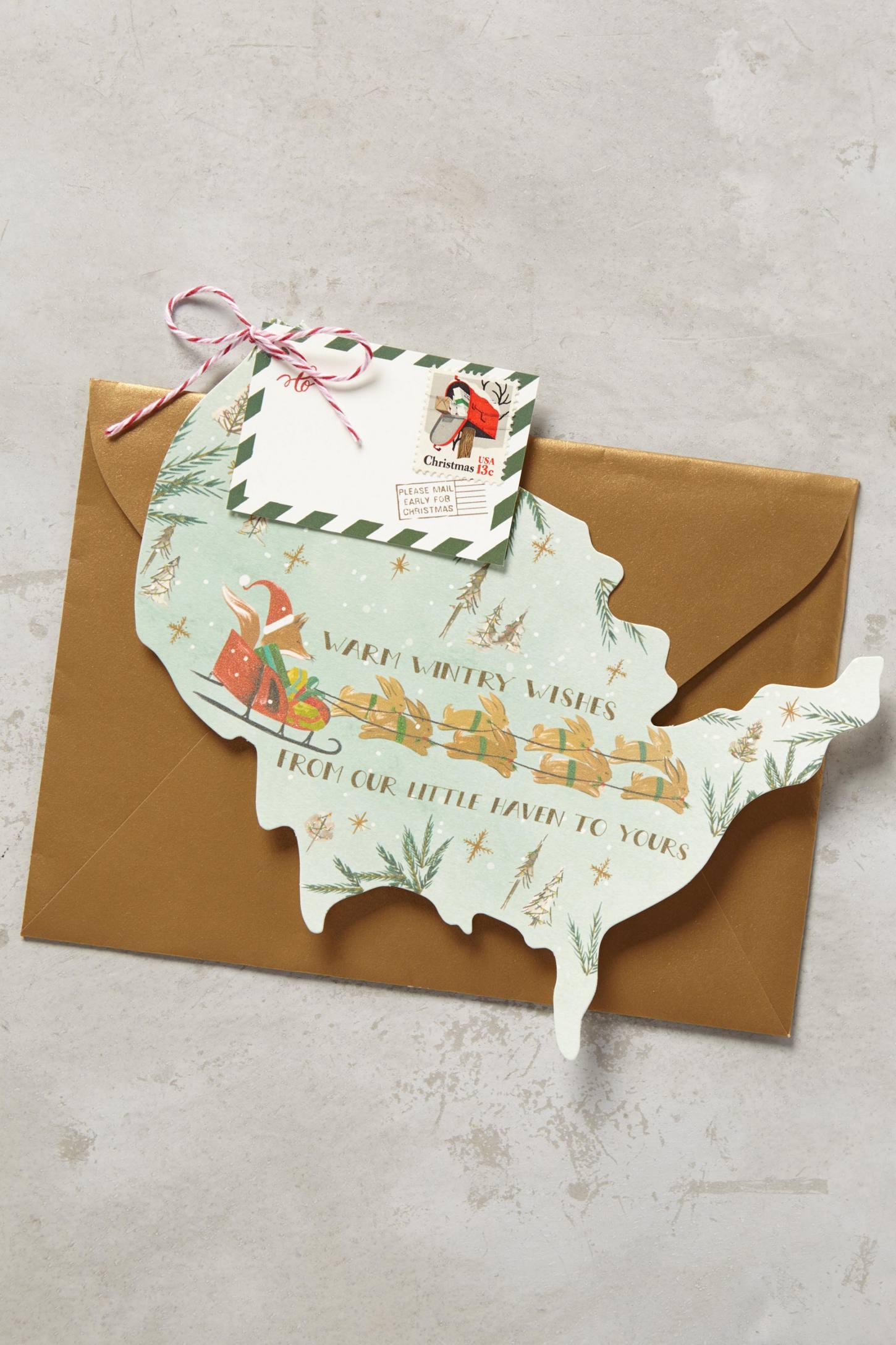 Santa Fox Card