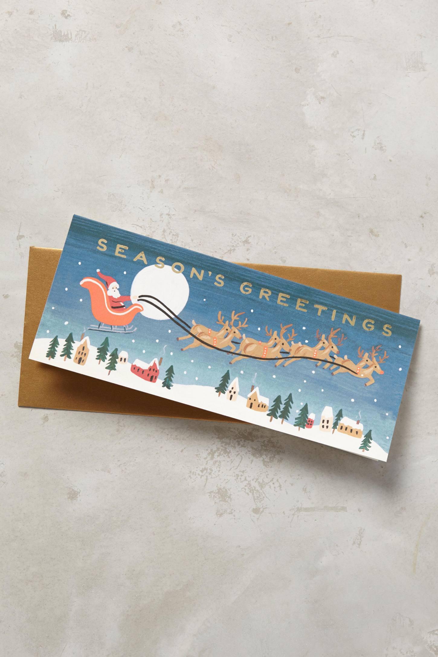 Santa's Team Card