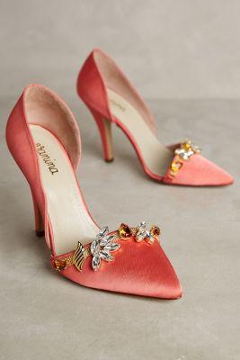 Vanina Embellished Esca Heels Coral 40 Euro Heels