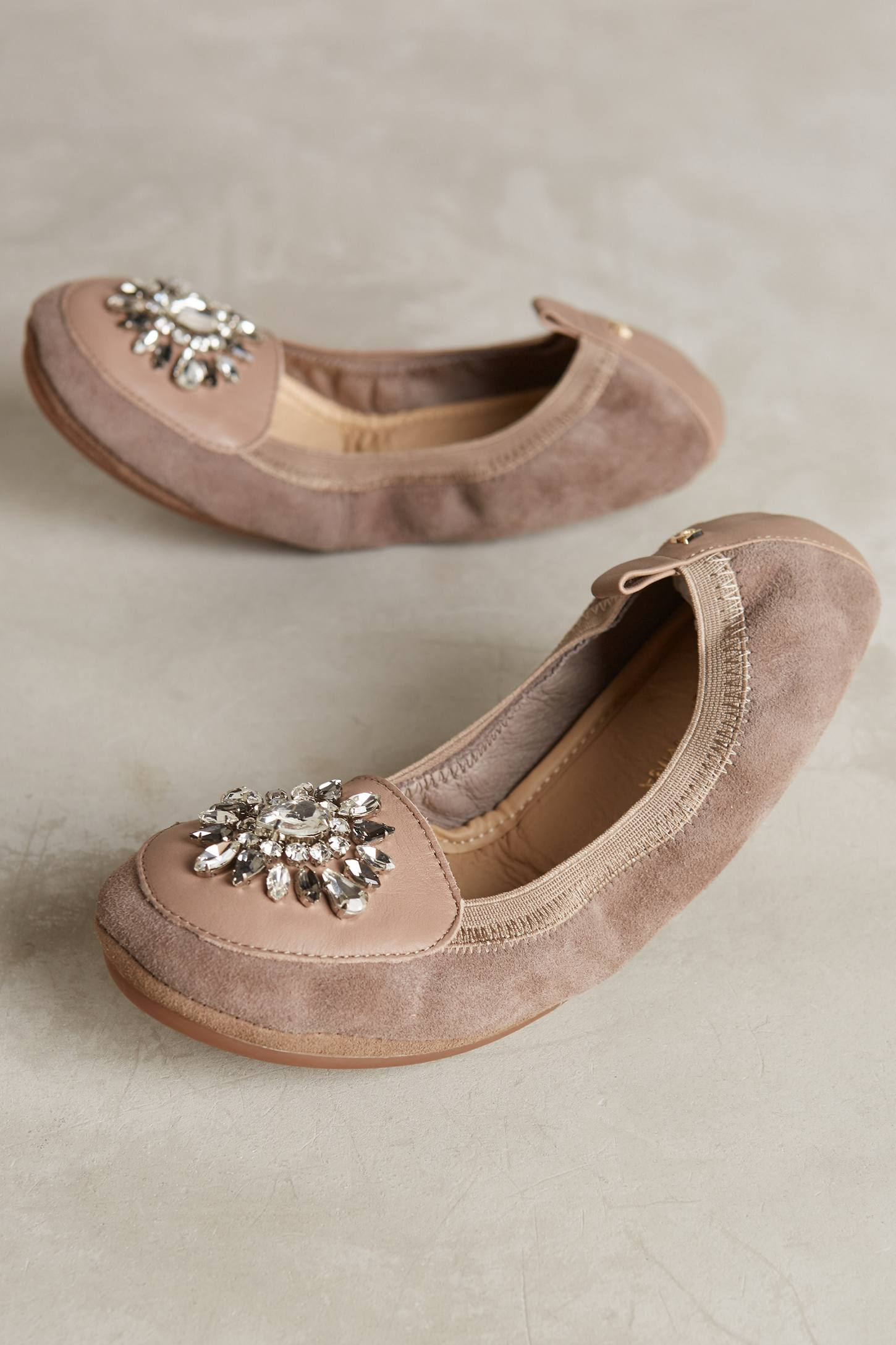Yosi Samra Orly Jeweled Fold-Up Flats
