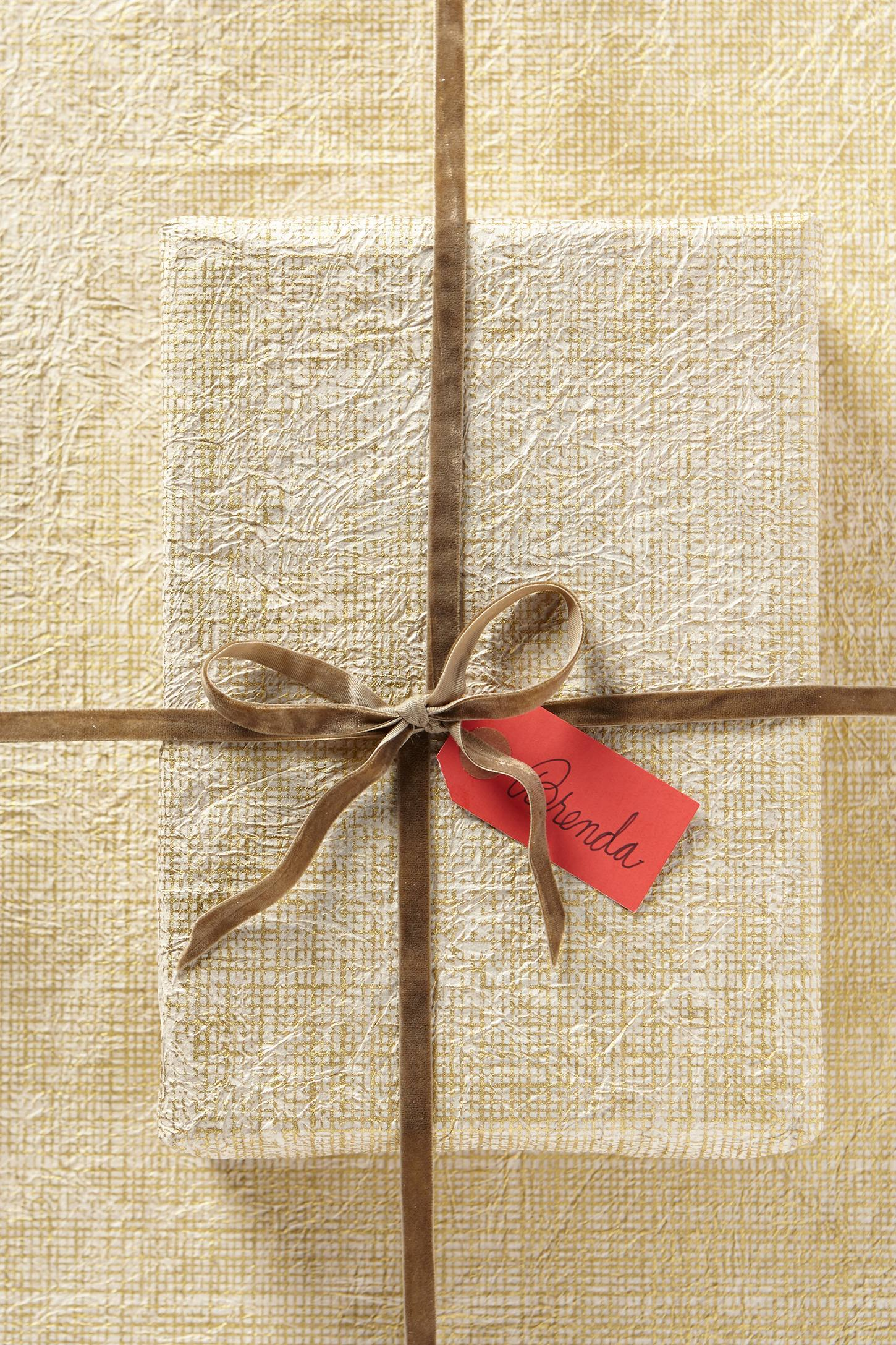 Handmade Crinkled Gift Wrap