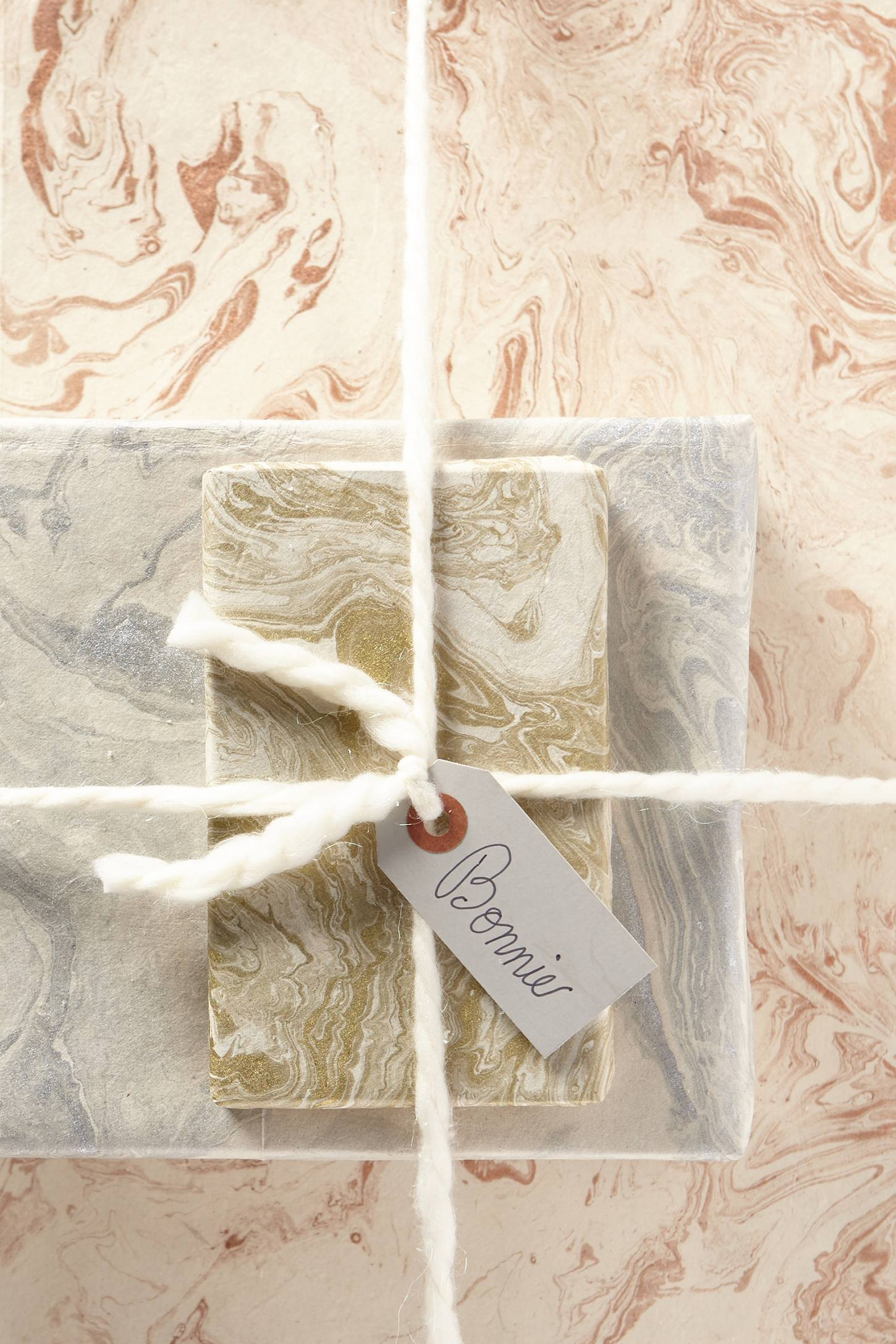 Handmade Marbled Gift Wrap