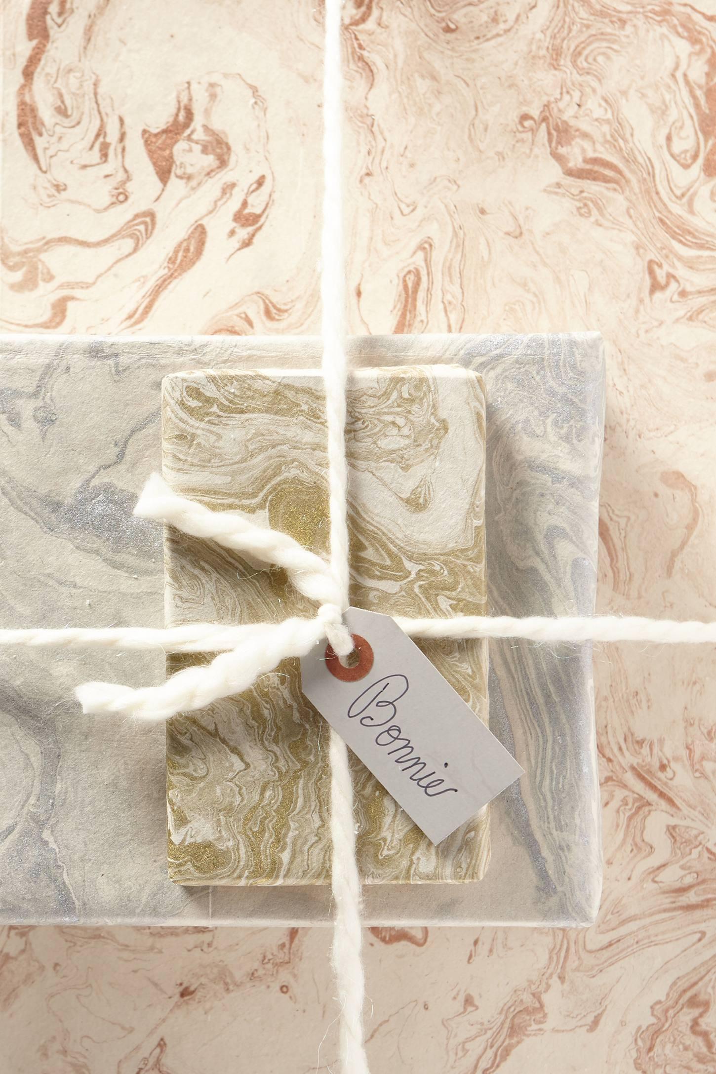 Handmade Marbled Gift Wrap