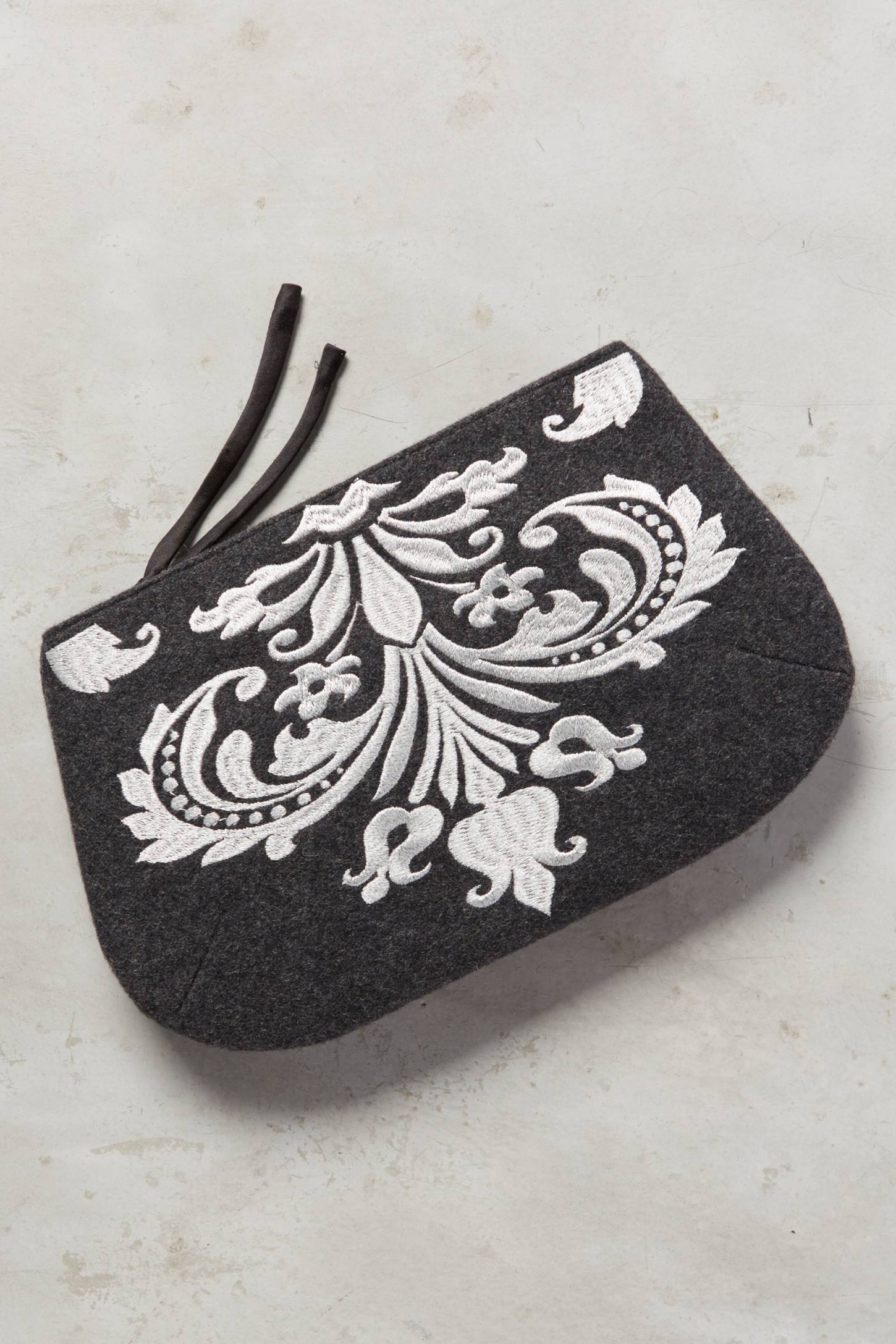 Embroidered Gigue Pouch