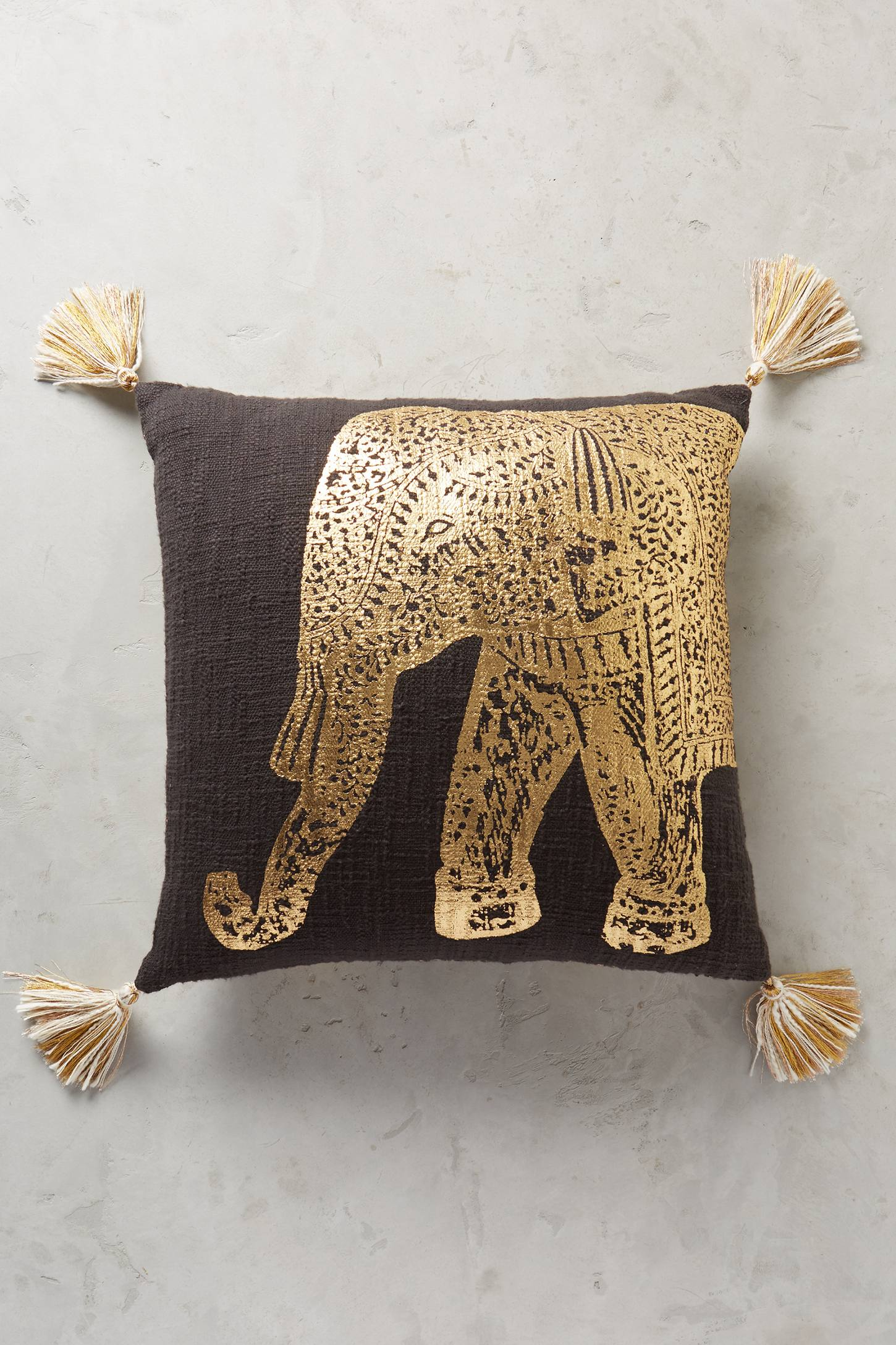 Travelling Elephant Cushion
