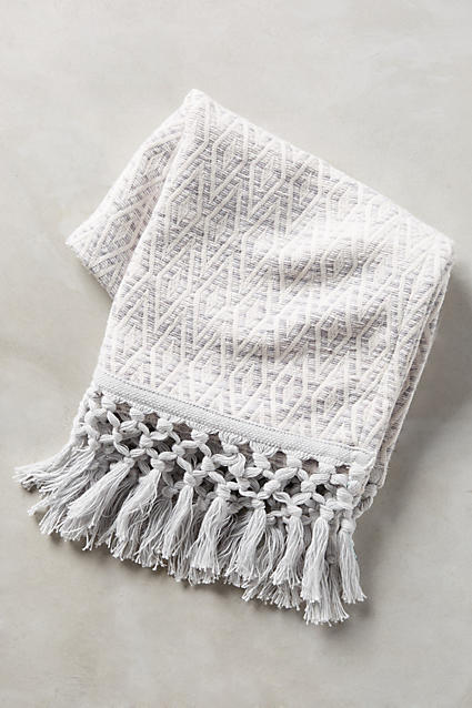 Yarn-Dyed Malvina Hand Towel - anthropologie.com