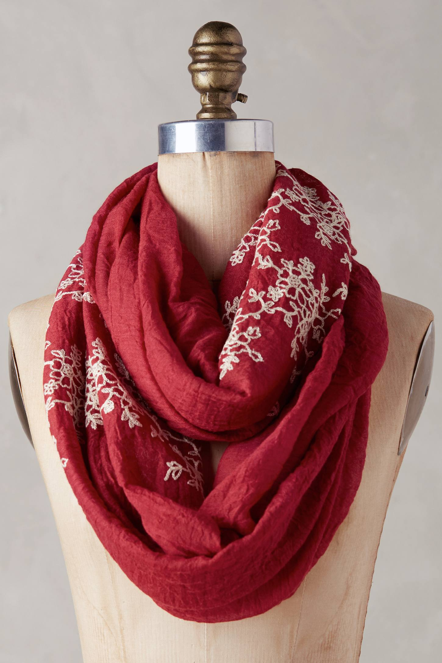 Embroidered Floriculture Scarf