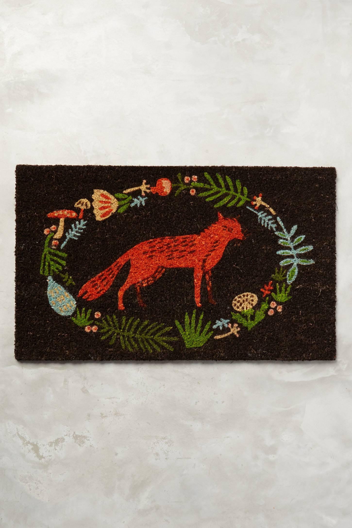 Ringed Fox Doormat