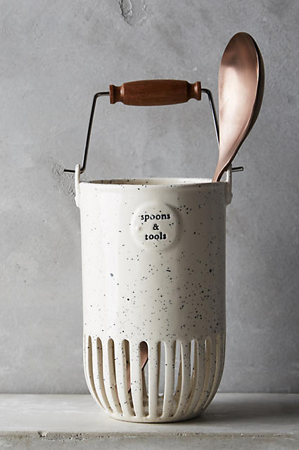 Dairy Pail Utensil Jar - anthropologie.com