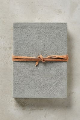 Embossed Suede Journal