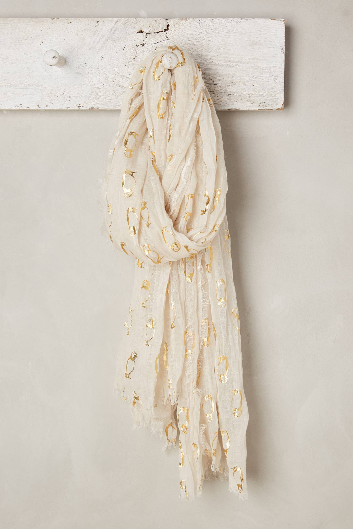 Golden Puffin Scarf