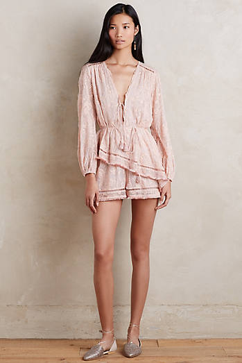 Tiered Silk Romper