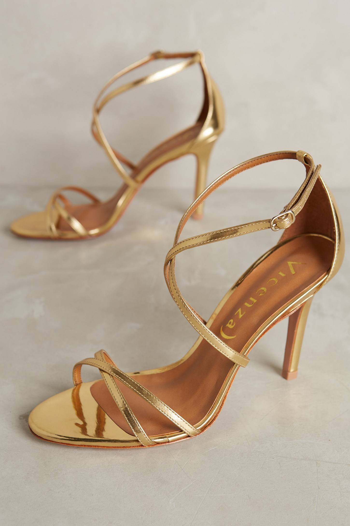 Vicenza Cross-Strap Heels