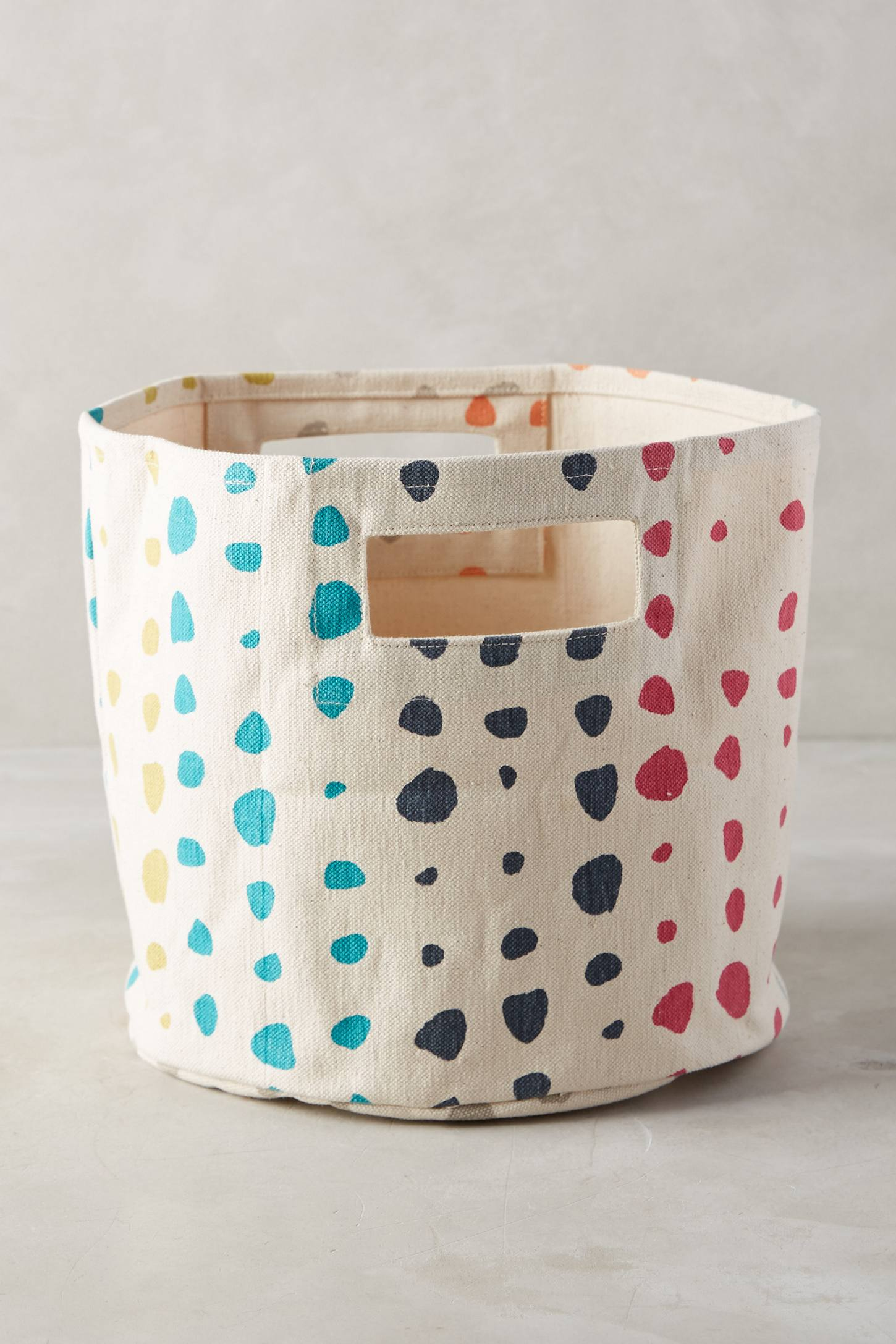 Painted Spots Basket