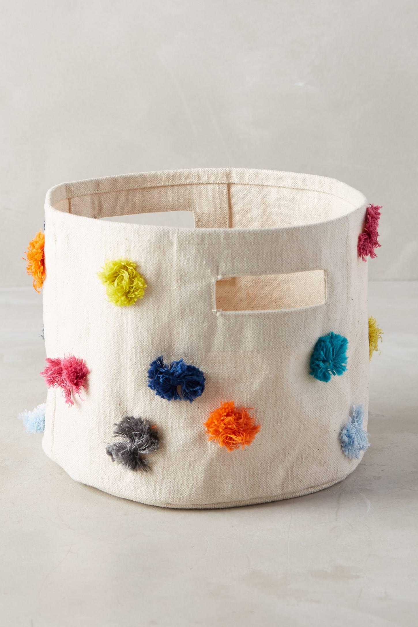 Rainbow Tufts Basket