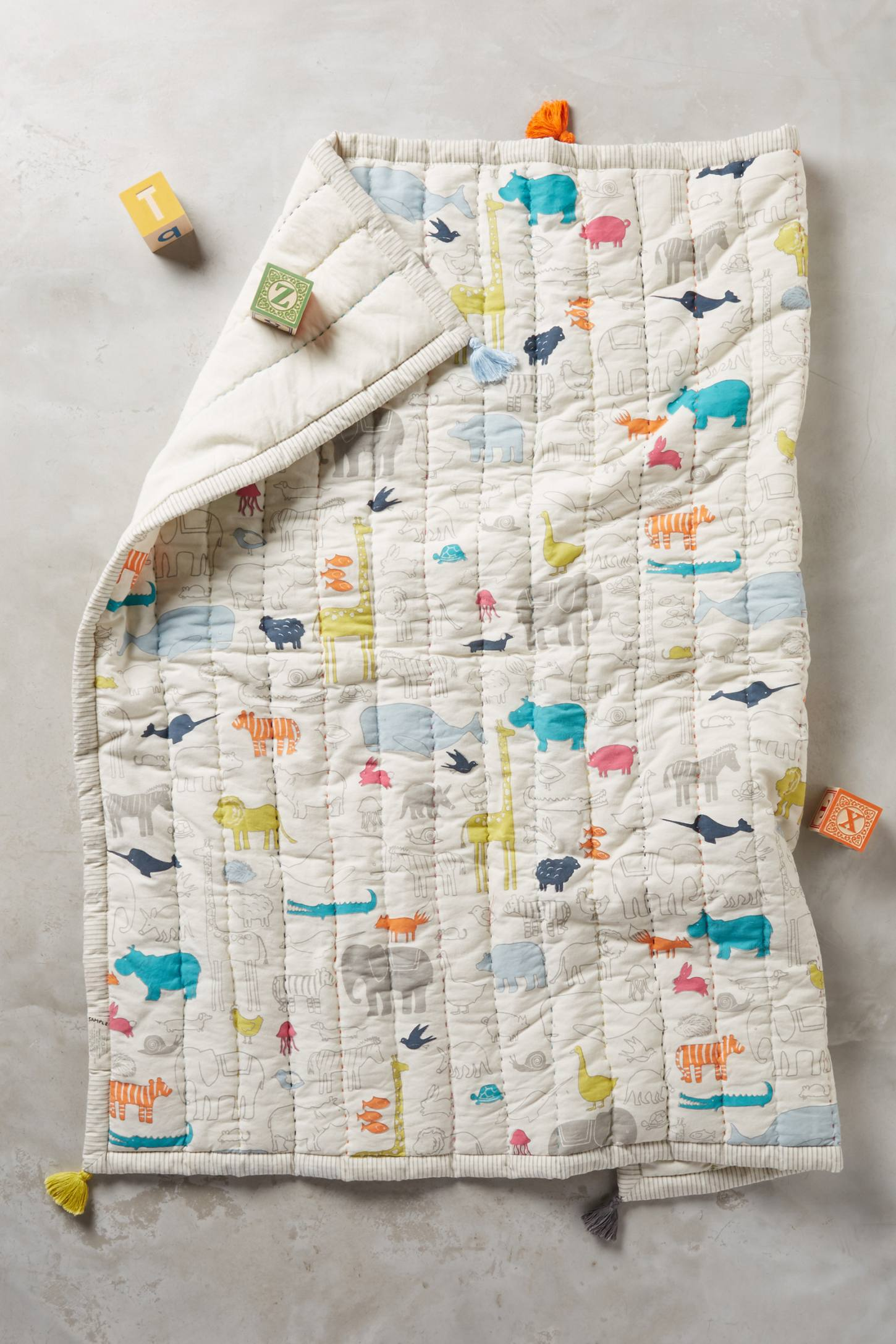 Animal Parade Play Blanket