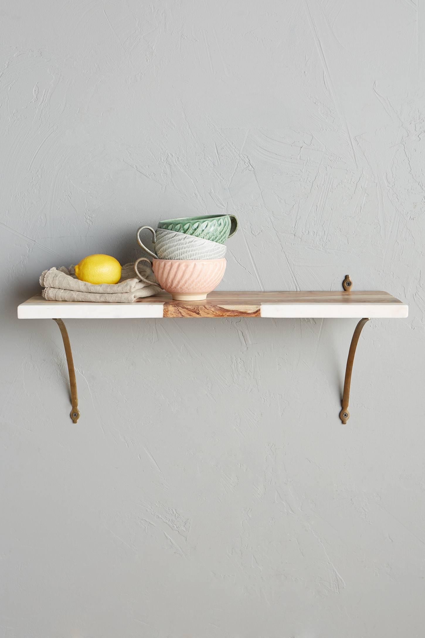 Marble-Blocked Shelf