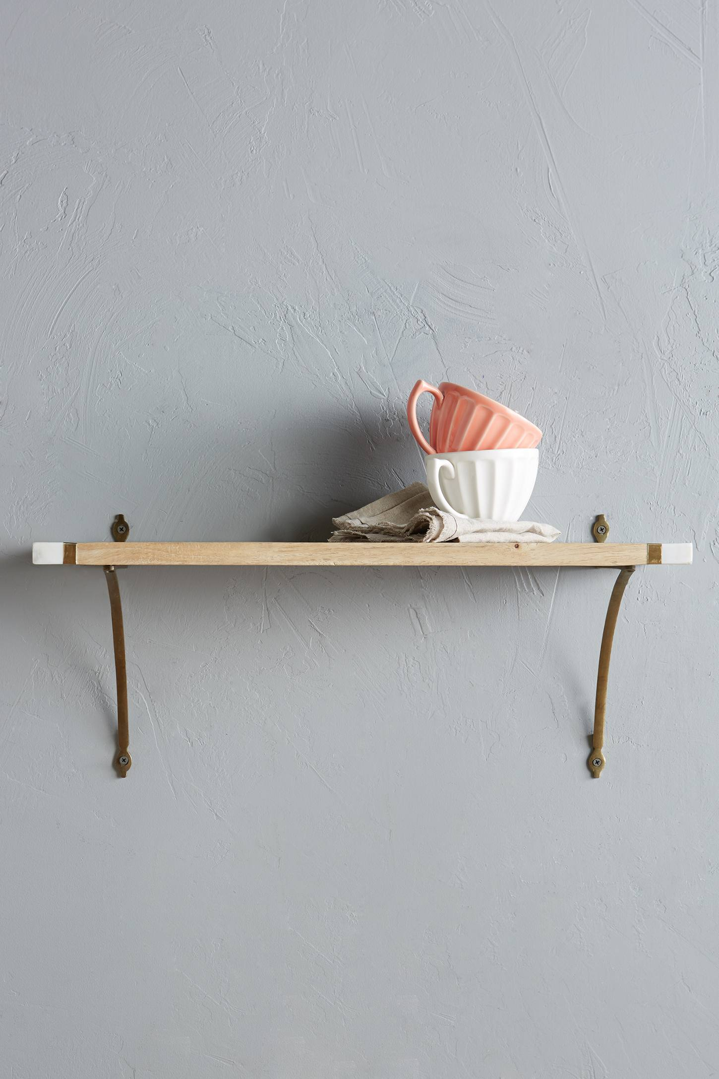 Marble-Edged Shelf