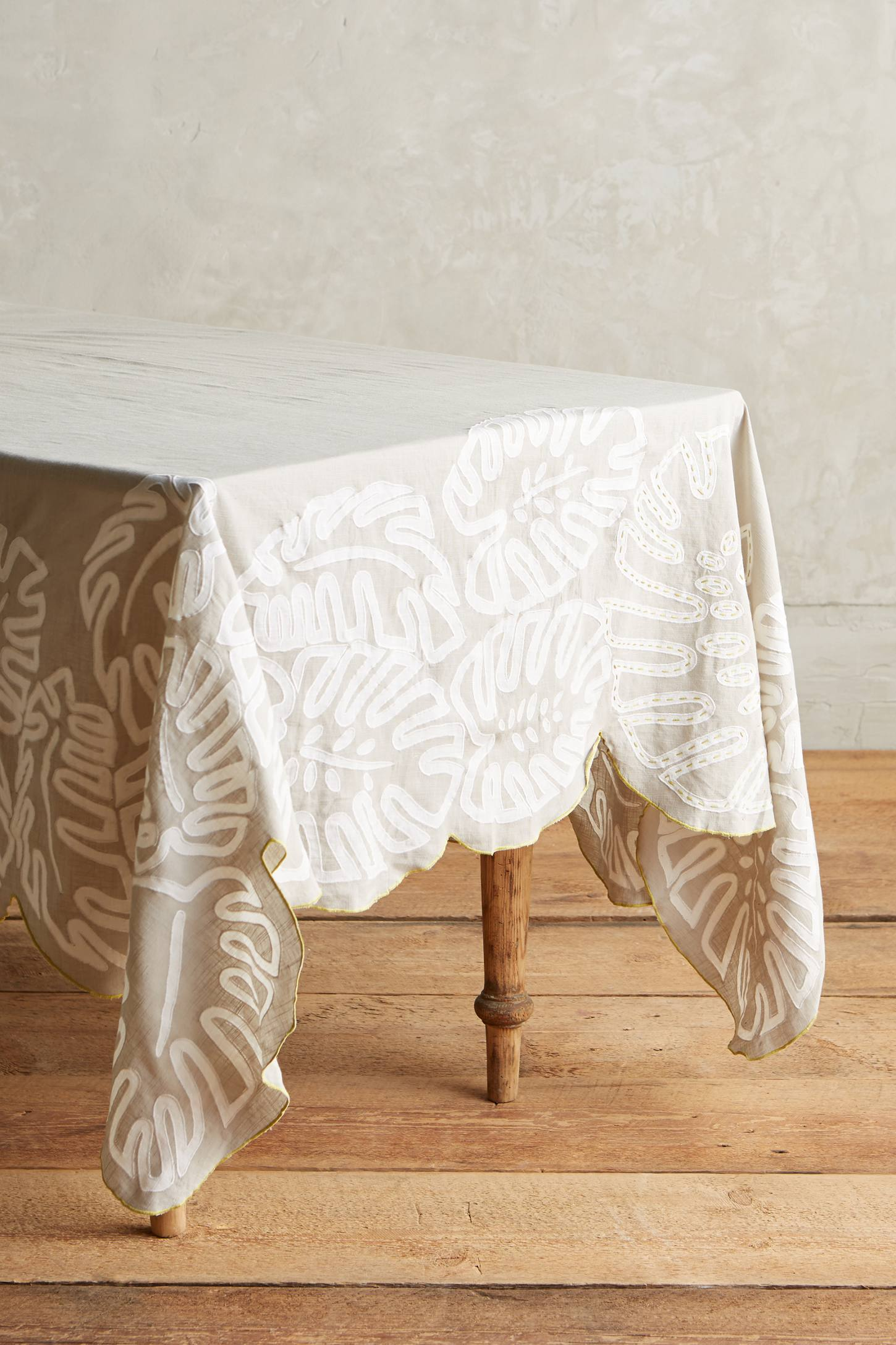 Ribboned Fronds Tablecloth