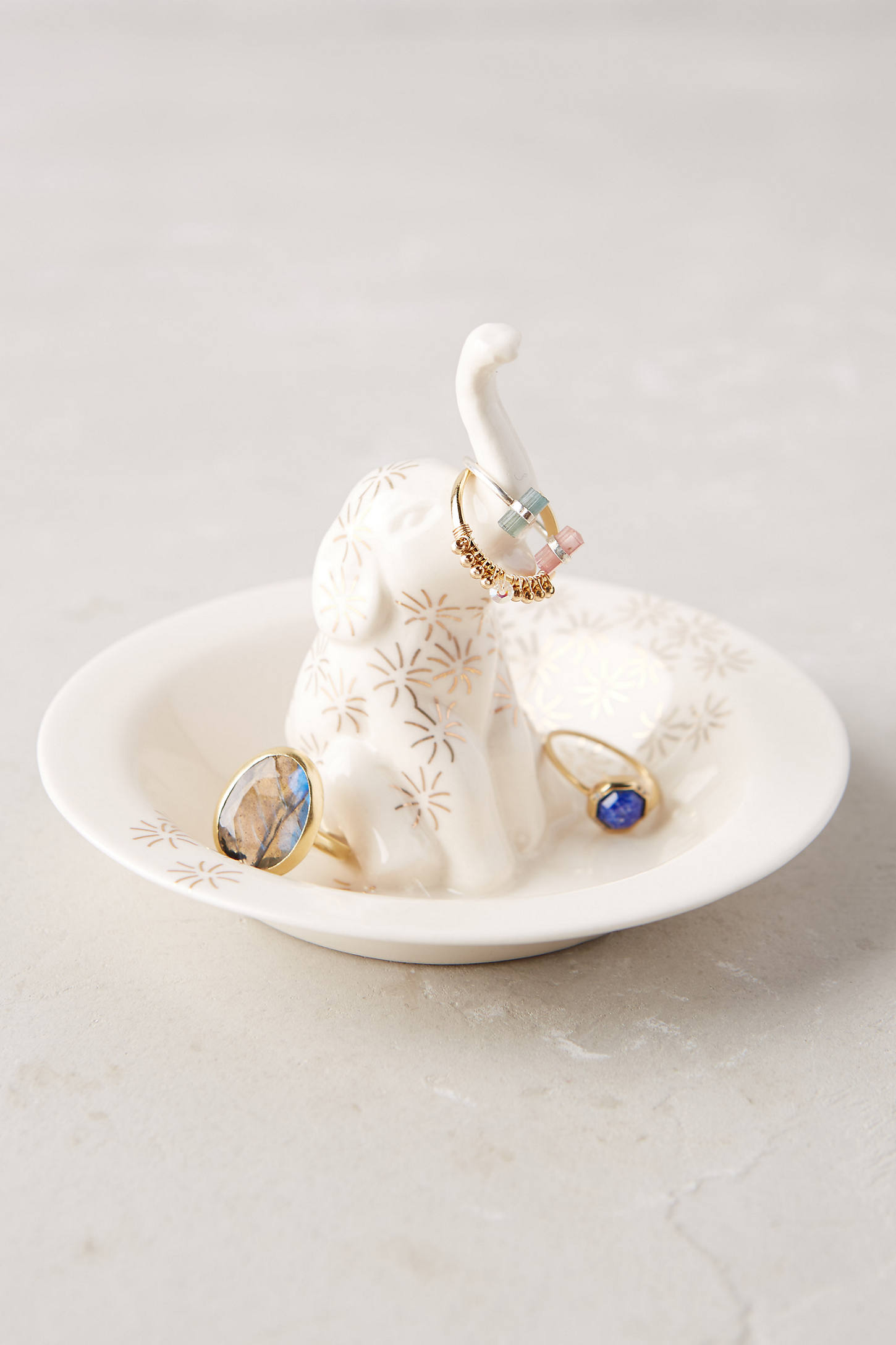 Bathing Elephant Trinket Dish