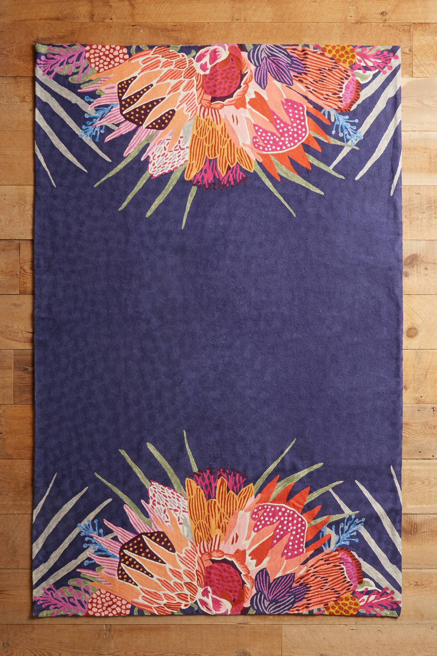 Opuntia Crewelwork Rug
