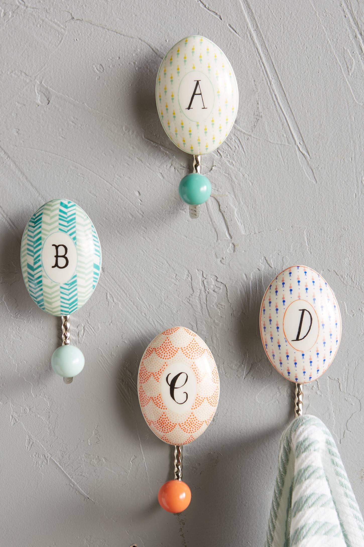 Lovely Things March 2016 - Anthropologie Monogram Hooks