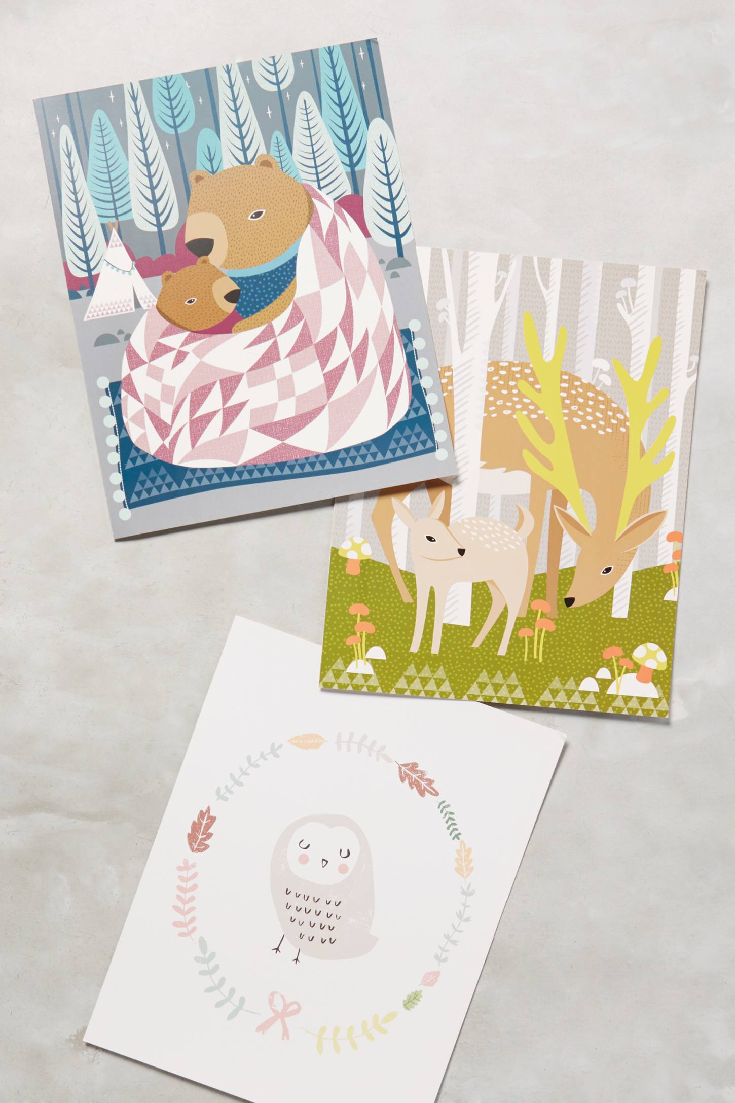 Woodland Friends Pull-Out Wall Prints