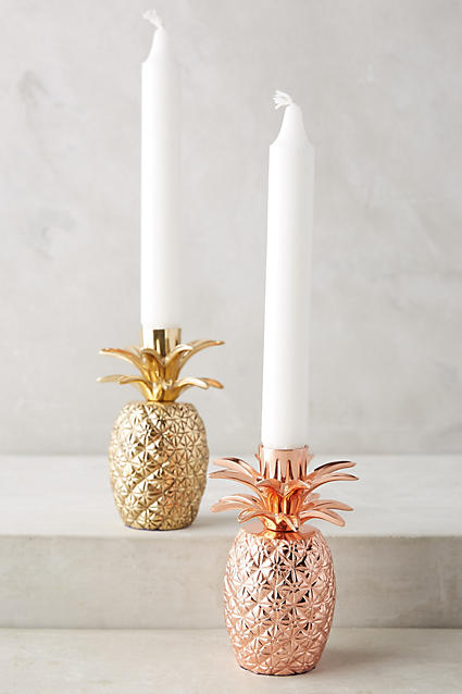 Gorgeous pineapple taper holders