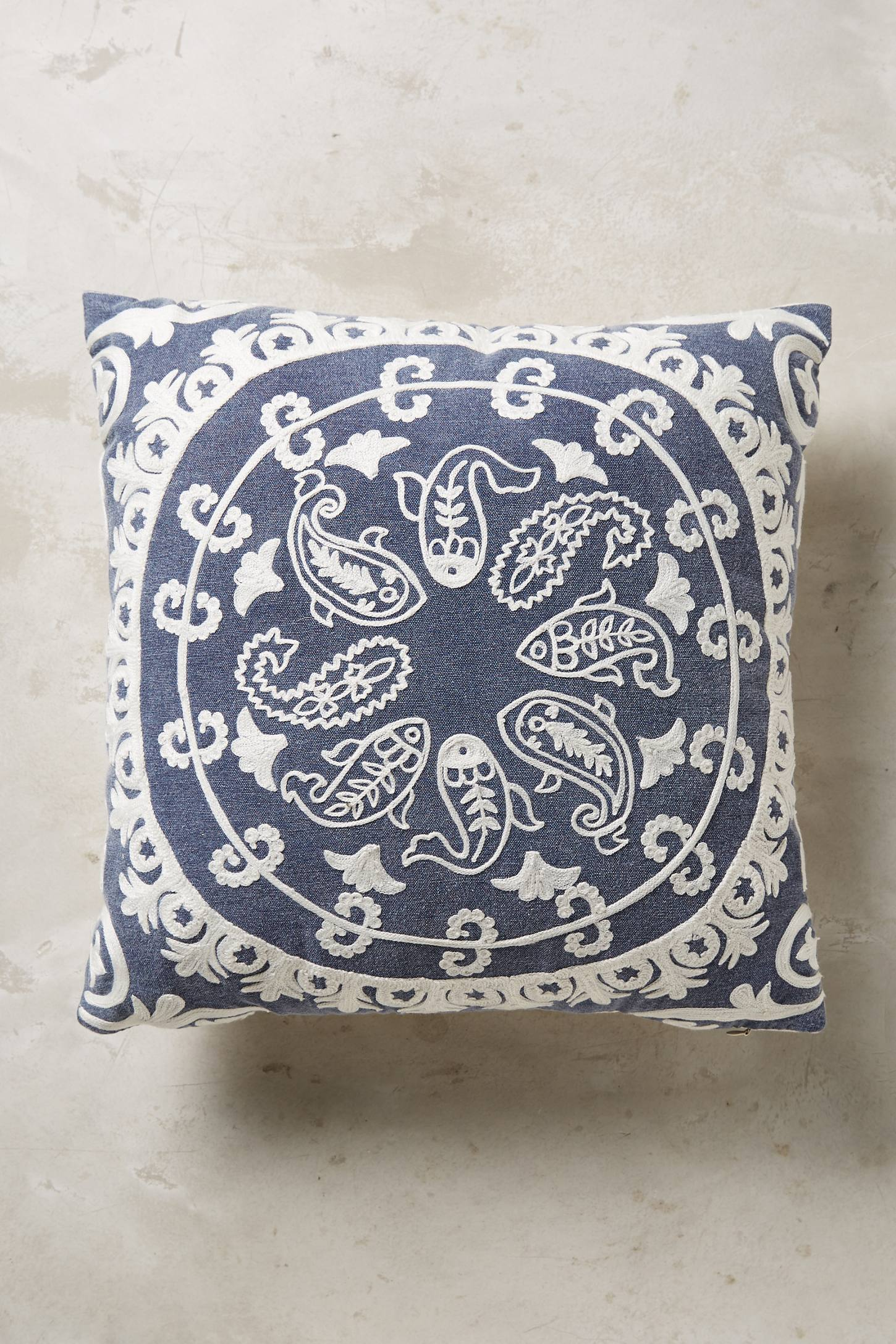 Odissi Embroidered Cushion