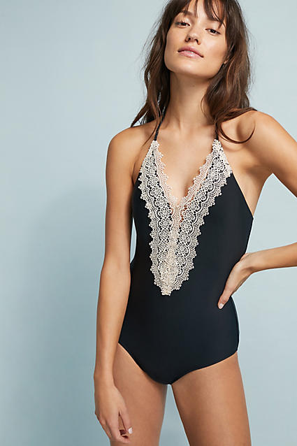 Gorgeous lace front one-piece