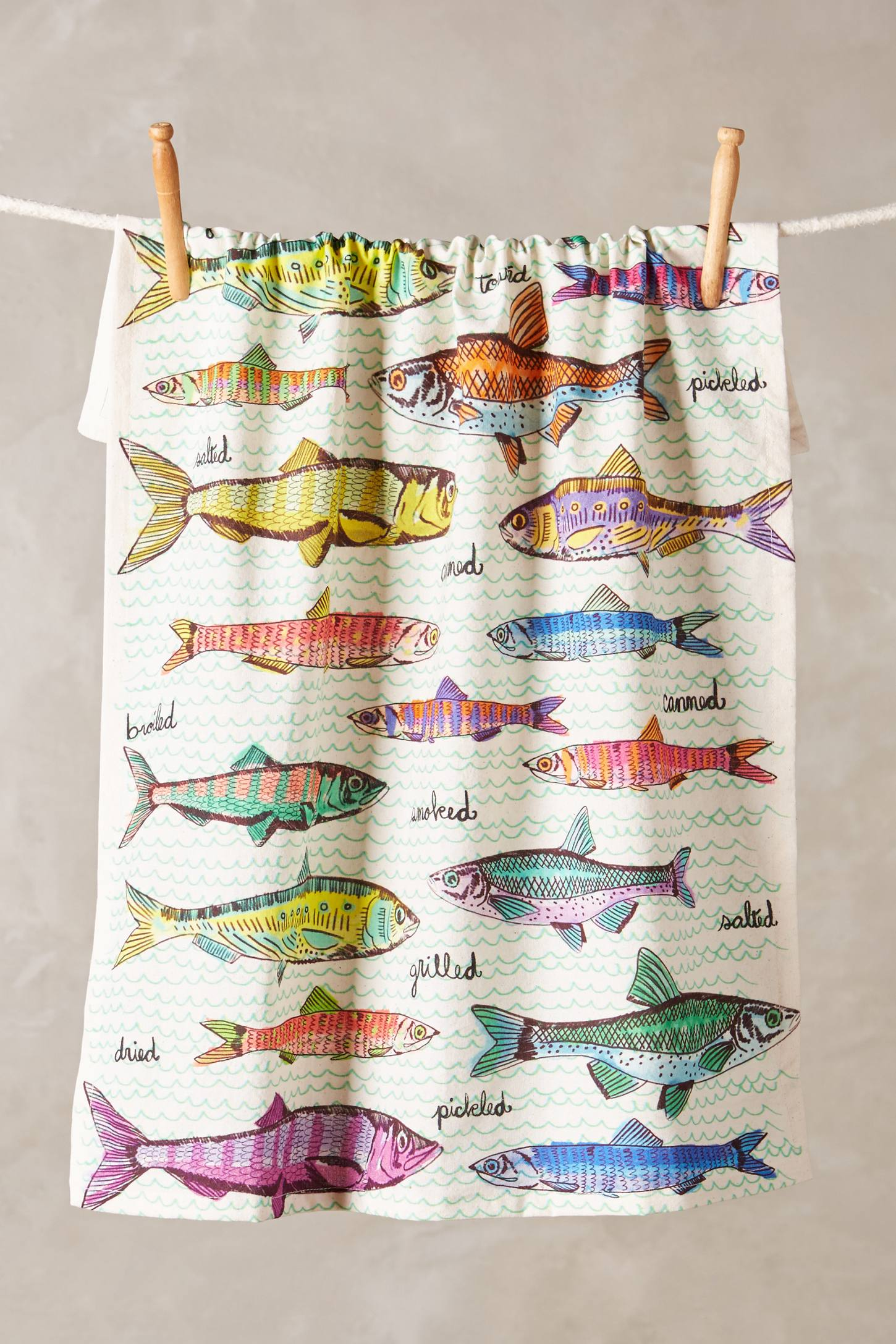 Oceanographic Tea Towel