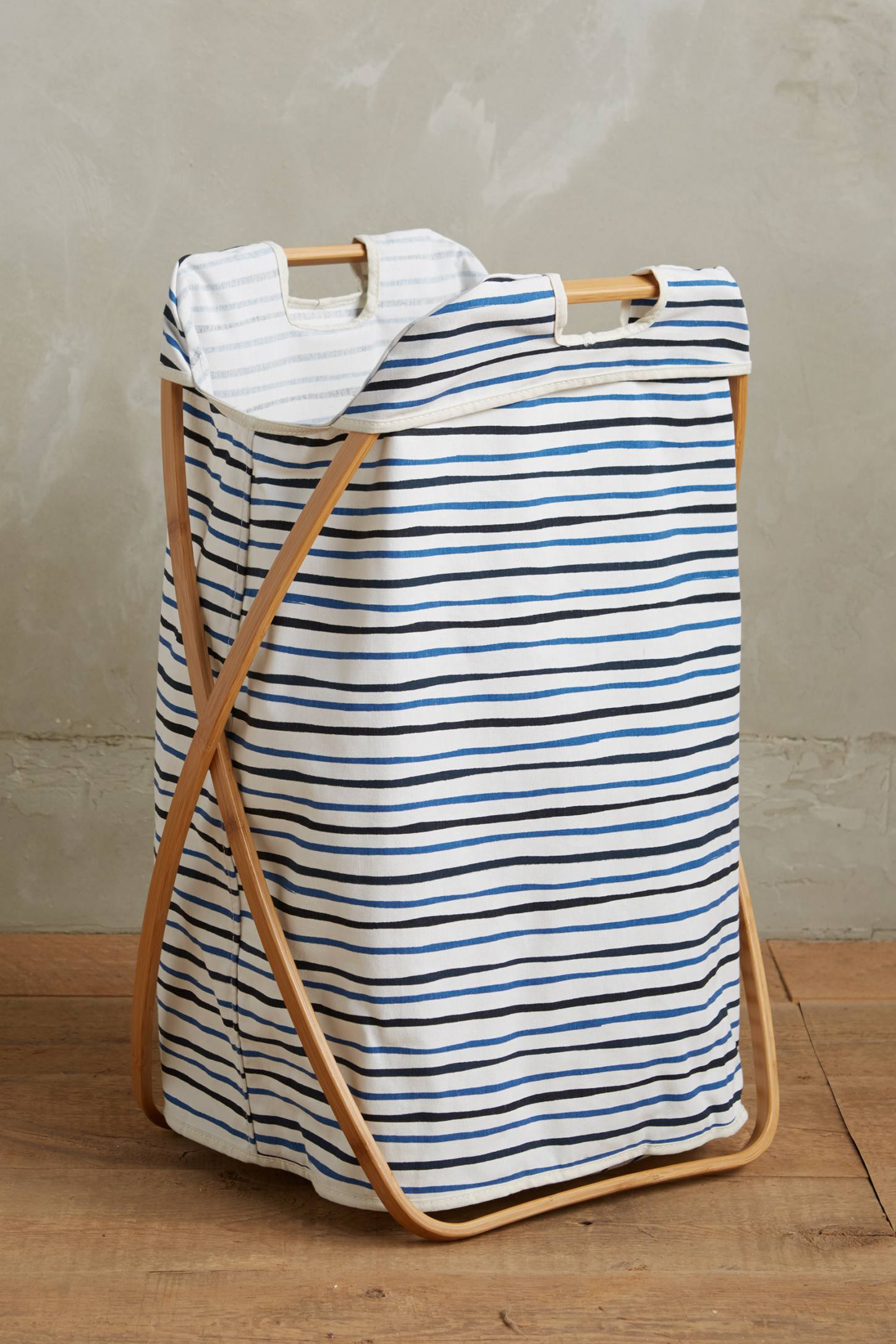 Seastriped Laundry Basket