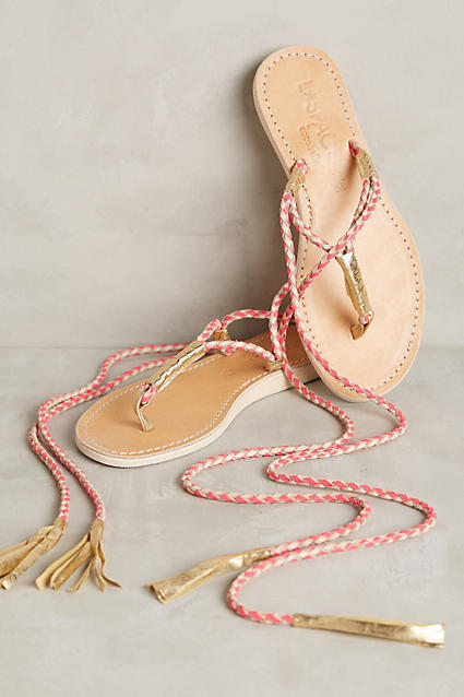 Super cute wrap sandals