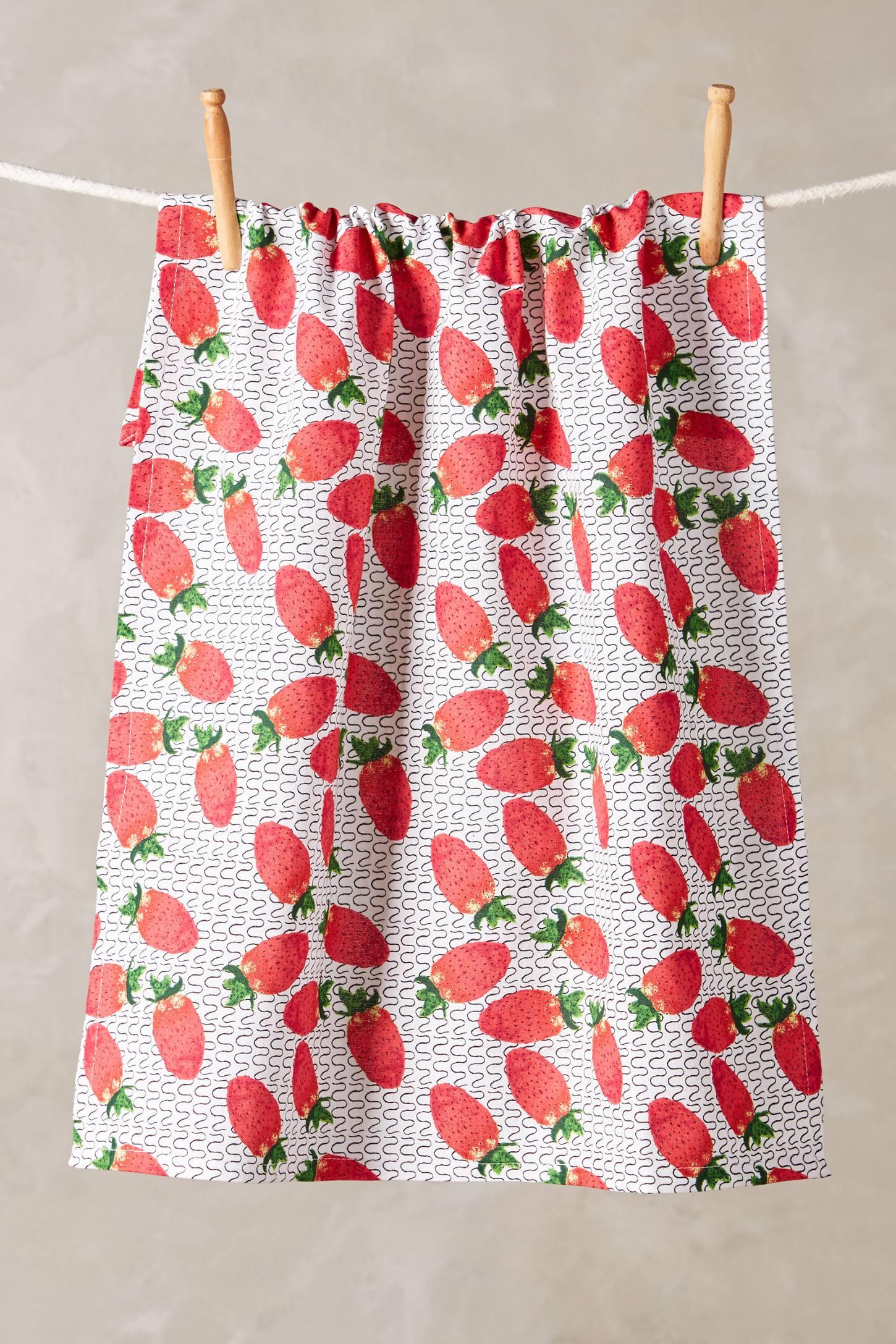 Strawberry Fields Tea Towel