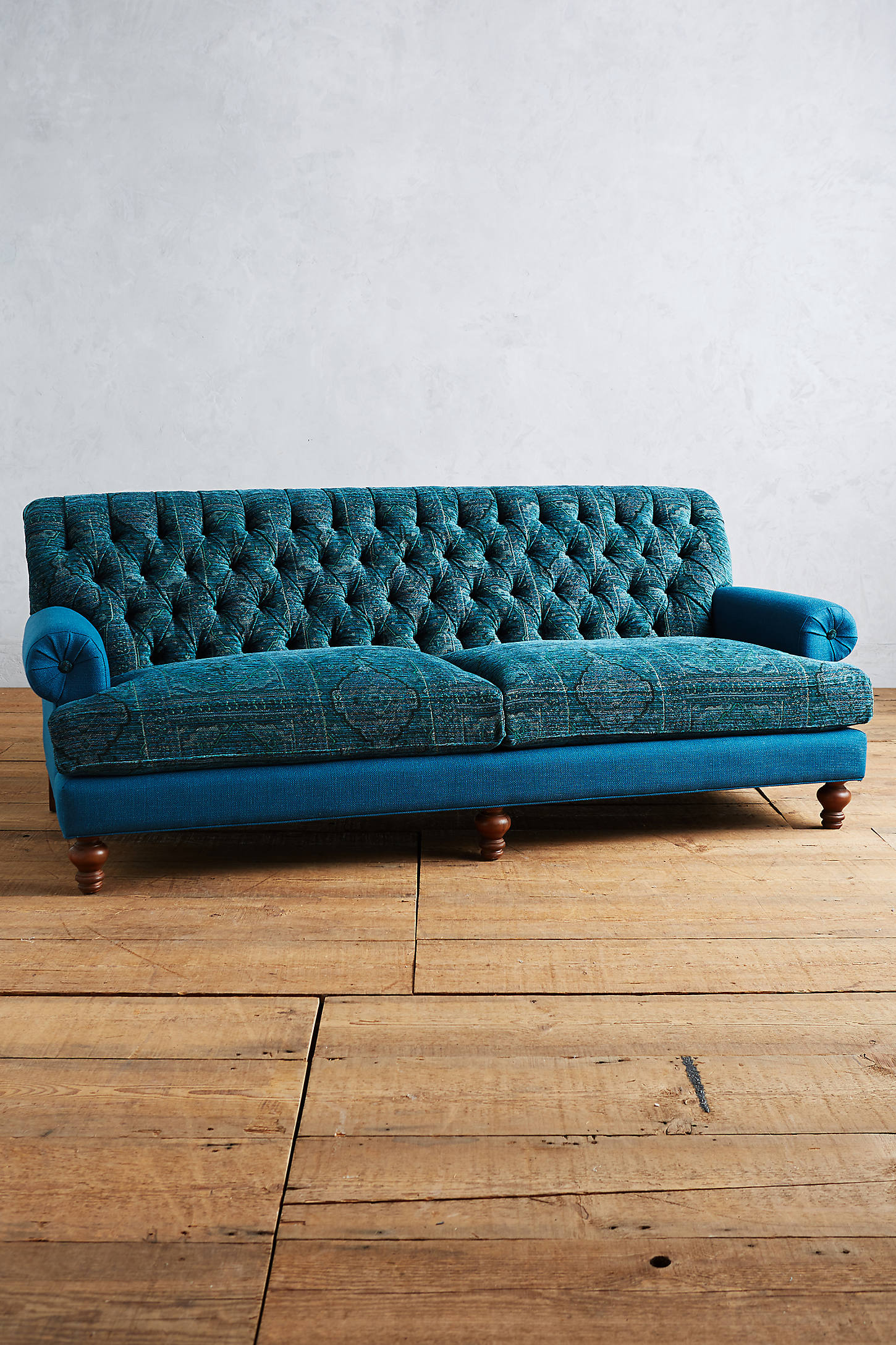 Rug-Woven Fan Pleat Sofa