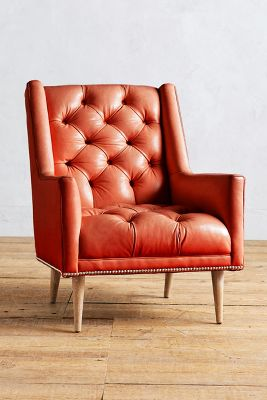 Premium Leather Booker Armchair
