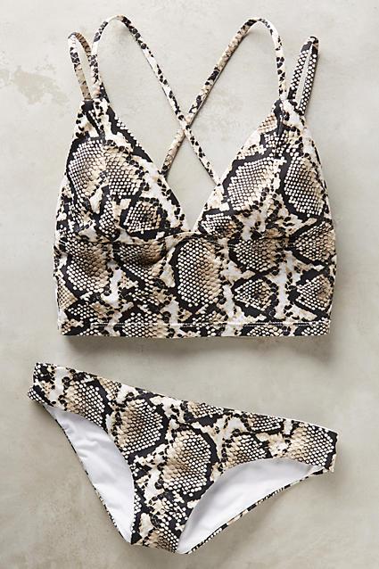Snake print bikini