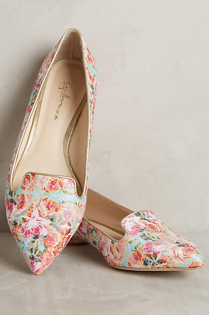 Cute floral loafers