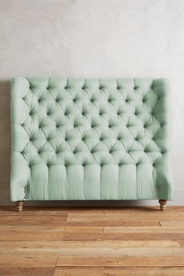 Linen Tufted Wingback Headboard