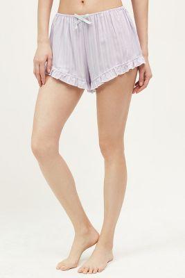 Ruffled Floral Sleep Shorts